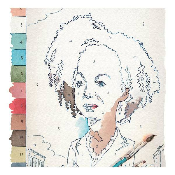 Race Drawing - Sketchbook by Barry Blitt