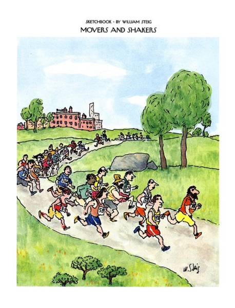Racing Drawing - Sketchbook Movers And Shakers by William Steig