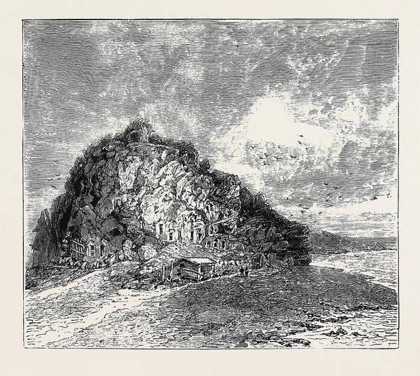 Lava Drawing - Sketches In The Lipari Islands Faragleone by English School