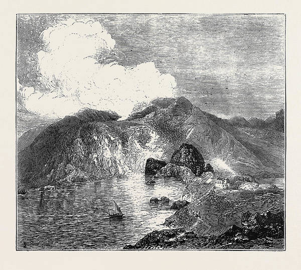 Lava Drawing - Sketches In The Lipari Islands View Of Great Crater by English School
