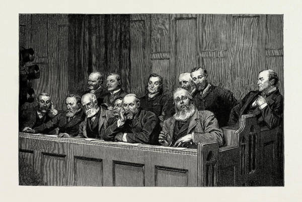 Royal Court Drawing - Sketches In The Royal Courts Of Justice by Litz Collection