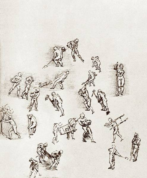 Photograph - Sketches Of Labourers At Work by Sheila Terry