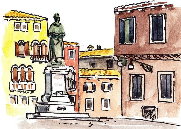 Painting - Sketching Italy Venetian Piazza by Irina Sztukowski