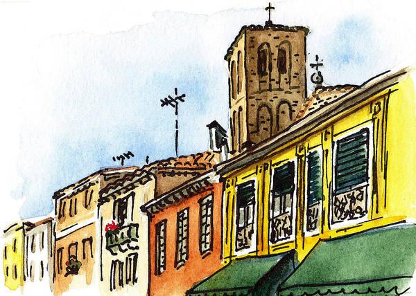 Sketching Painting - Sketching Italy Venice Via Nuova by Irina Sztukowski