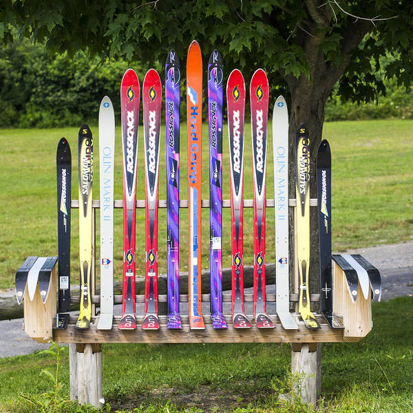 Photograph - Ski Bench - Fort Foster - Maine by Steven Ralser