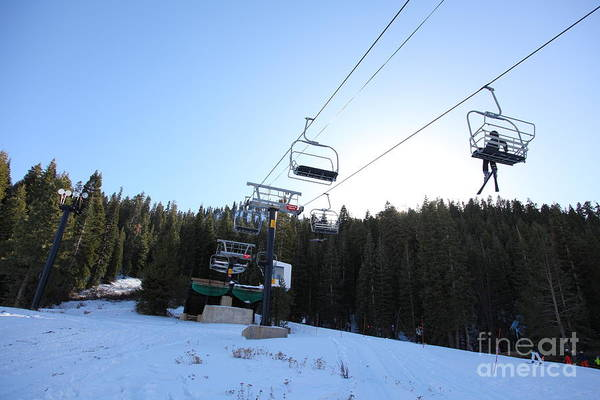 Photograph - Ski Lifts At Squaw Valley Usa 5d27612 by Wingsdomain Art and Photography