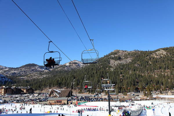Photograph - Ski Lifts At Squaw Valley Usa 5d27639 by Wingsdomain Art and Photography