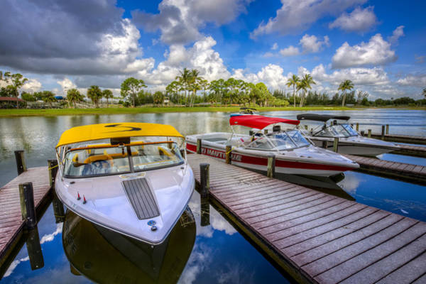 Okeeheelee Park Photograph - Ski Nautique Boats by Debra and Dave Vanderlaan
