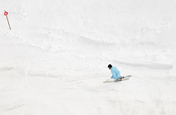 Photograph - Skier And Ski Piste From Above by Matthias Hauser