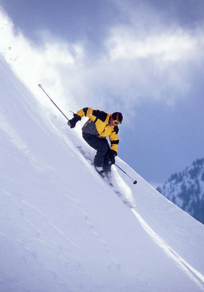 Colombia Photograph - Skier On Powder Slope by Derek Frankowski