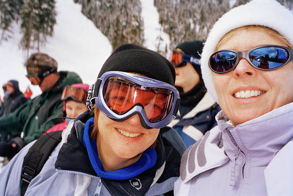 Whistler Photograph - Skiers by Martin Riedl/science Photo Library