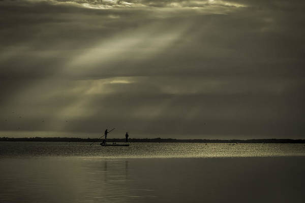 Photograph - Skiff And Sunrise by Dorothy Cunningham