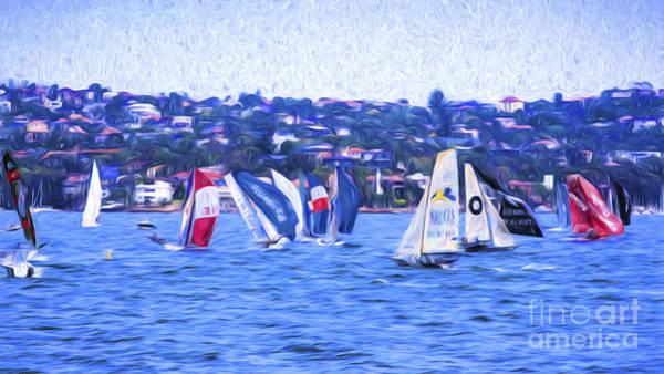 Wall Art - Photograph - Skiff Race On Sydney Harbour by Sheila Smart Fine Art Photography