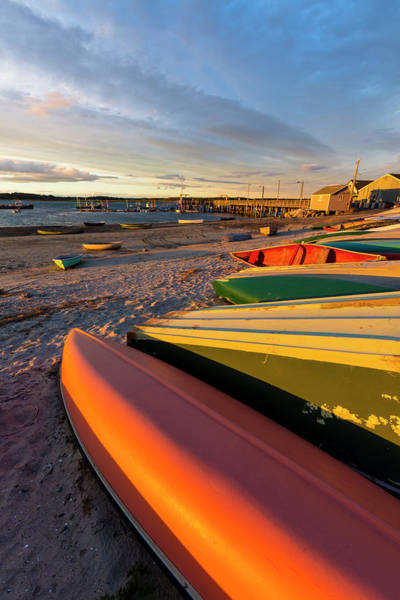 Scarborough Photograph - Skiffs At Pine Point In Scarborough by Jerry Monkman