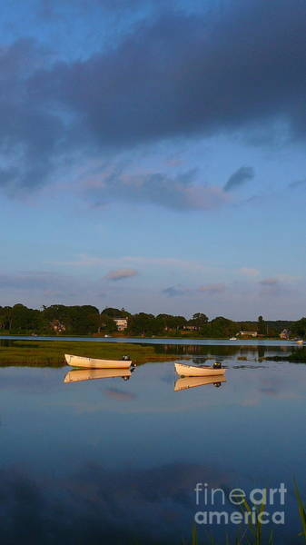 Squid Row Photograph - Skiffs In Lagoon Pond At Sunset by Matt Dana
