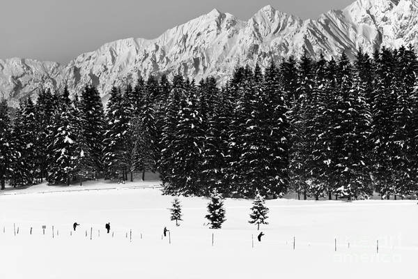 Wall Art - Photograph - Skiing In The White by Yuri San