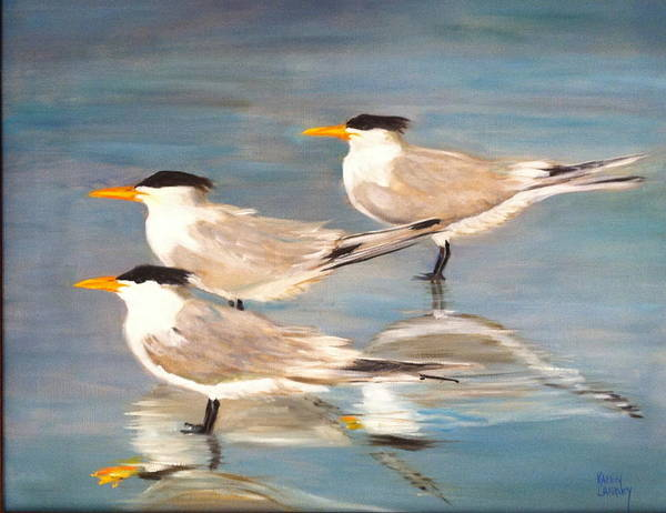 Wall Art - Painting - Skimmers by Karen Langley