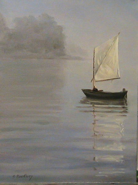 Impressionistic Sailboats Painting - Skipjack On The Chesapeake by Susan Bradbury