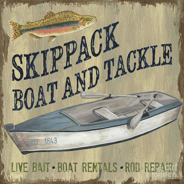 Wall Art - Painting - Skippack Boat And Tackle by Debbie DeWitt