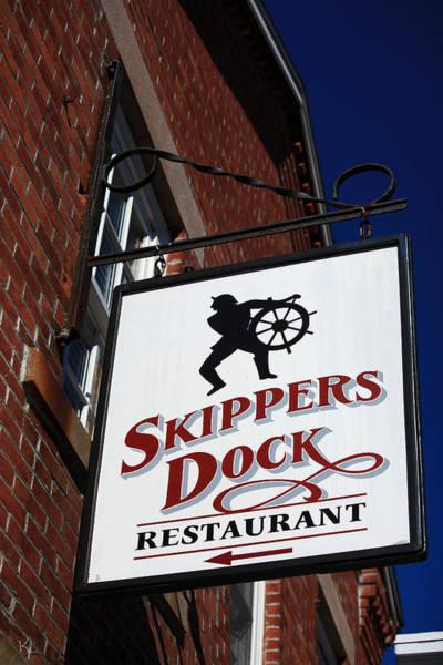 Stonington Photograph - Skippers Dock by Karol Livote