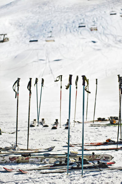 Photograph - Skis And Poles by Howard Kingsnorth