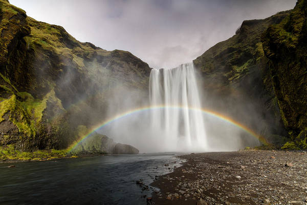 Skogarfoss Waterfall Art Print