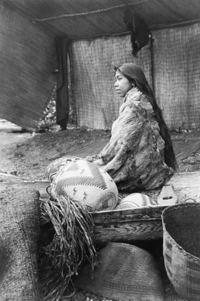 Indigenous Wall Art - Photograph - Skokomish Girl Circa 1913 by Aged Pixel