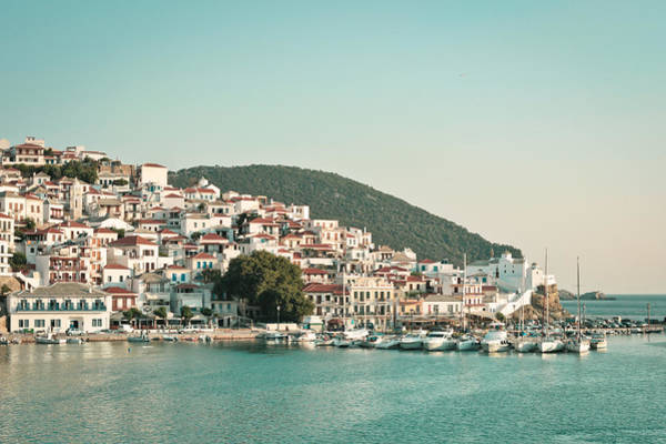 Idyll Photograph - Skopelos Harbour by Tom Gowanlock