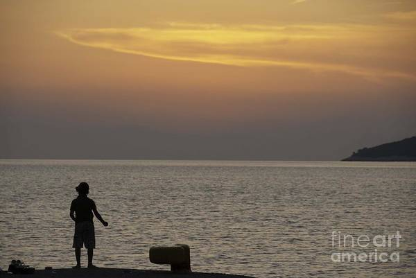 Photograph - Skopelos Sunset - Fisher Boy - 2 by James Lavott