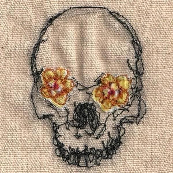Wall Art - Photograph - #skull #art #needlework by Marina Boitmane