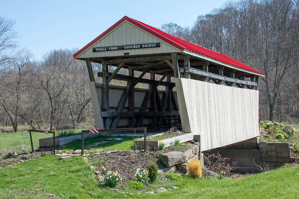 Photograph - Skull Fork Covered Bridge by Guy Whiteley