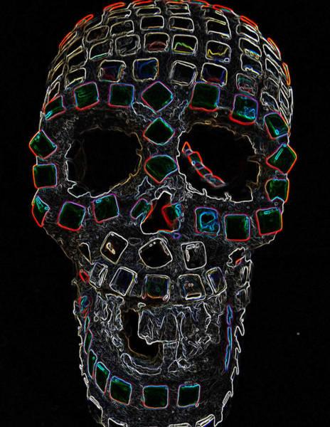Neon Lights Mixed Media - Skully Alas We Hardly Knew Ye by Lisa Brandel