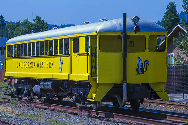 Skunk Photograph - Skunk Train Passenger Car by Garry Gay