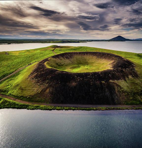 Ir Photograph - Skutustadagigar Pseudo Craters, Lake by Panoramic Images