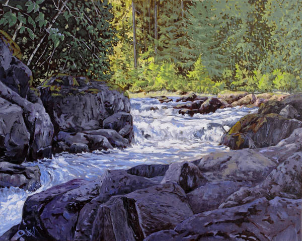 Painting - Skutz Falls by Rob Owen