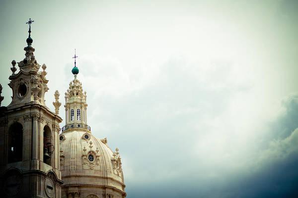 Photograph - Sky And Cnurch Lisbon Raimond Klavins by Raimond Klavins