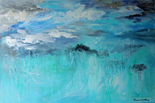 Wall Art - Painting - Sky And Sea by Peggy Maunsell