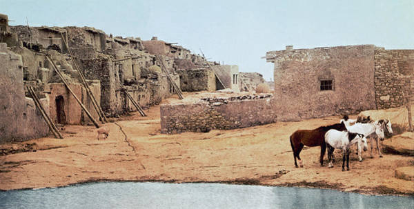 1890s Wall Art - Photograph - Sky City Acoma Pueblo by William Henry Jackson