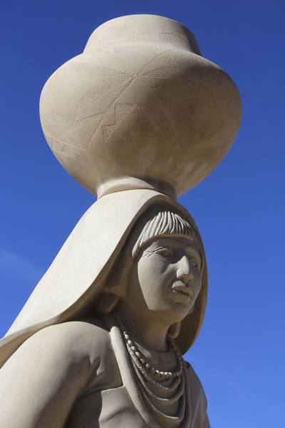 Acoma Photograph - Sky City Cultural Center Statue 2 by Mike McGlothlen