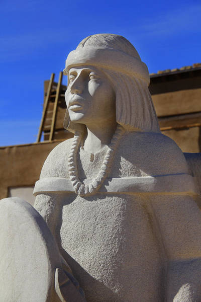 Acoma Photograph - Sky City Cultural Center Statue by Mike McGlothlen