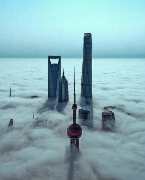 Chinese Photograph - Sky City by Stan Huang