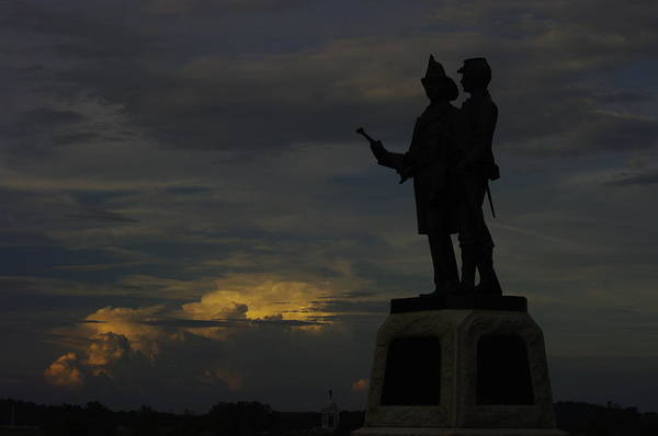 Wall Art - Photograph - Sky Fire - 73rd Ny Infantry 4th Excelsior 2nd Fire Zouaves - Summer Evening Thunderstorms Gettysburg by Michael Mazaika