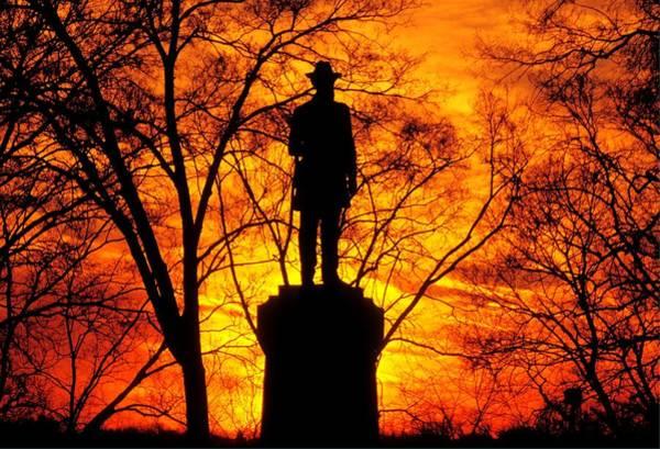 Wall Art - Photograph - Sky Fire - Flames Of Battle 50th Pennsylvania Volunteer Infantry-a1 Sunset Antietam by Michael Mazaika