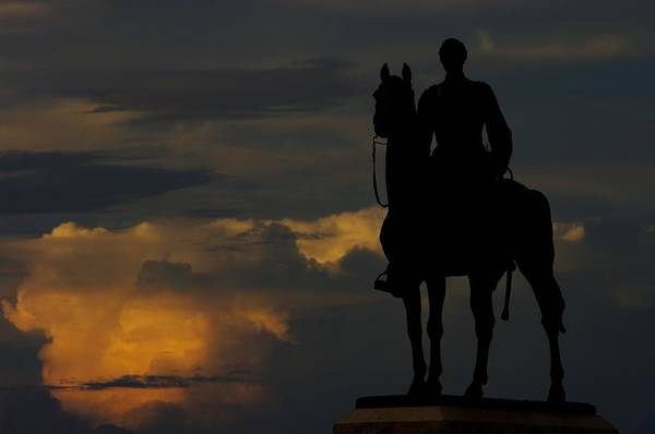 Wall Art - Photograph - Sky Fire - Maj Gen George G Meade Commander Army Of Potomac Summer Evening Thunderstorms Gettysburg by Michael Mazaika