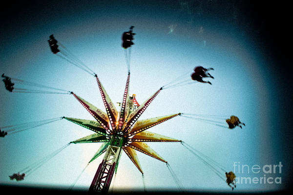 Fair Ground Photograph - Sky Flyer by Colleen Kammerer