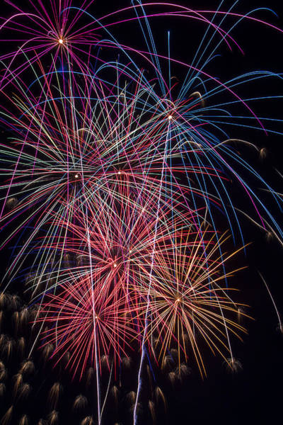 Fireworks Display Wall Art - Photograph - Sky Full Of Fireworks by Garry Gay