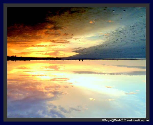 Sky Meets Water Art Print by Satya Winkelman