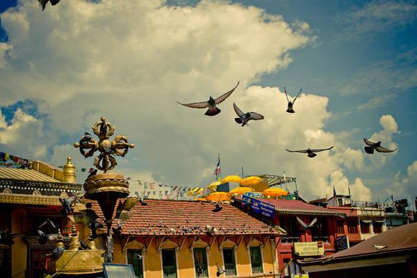 Photograph - Sky Near Stupa Boudhanath  Nepal Kathmandu Muktianth Yatra 2013 Artmif.lv by Raimond Klavins