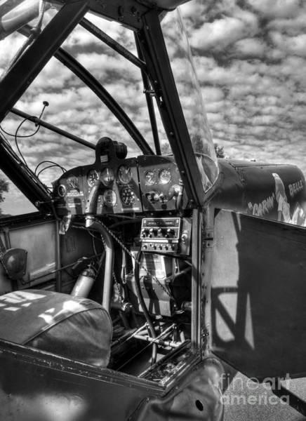 Photograph - Sky Pilot Bw by Mel Steinhauer