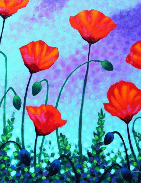 Edition Painting - Sky Poppies by John  Nolan